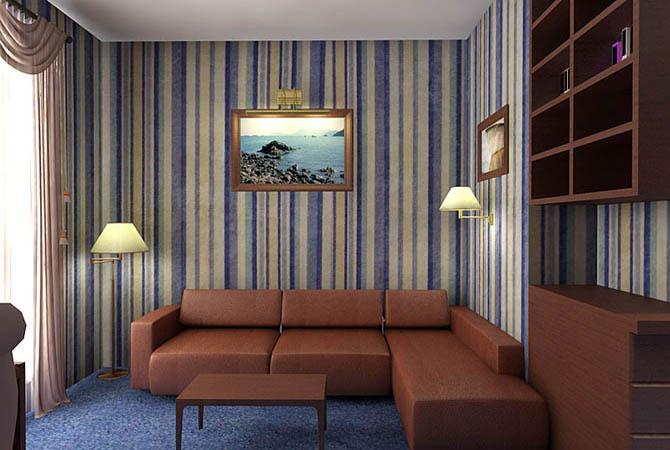 Дизайн интерьера в узкой комнате