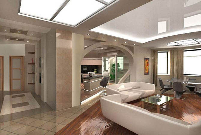 Дизайн кухни студии 18 м