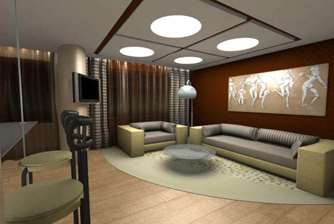 Дизайн ванной в однокомнатной квартире п-44